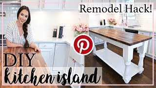 KITCHEN ISLAND PINTEREST INSPIRED! | DIY HOME DECOR | Alexandra Beuter