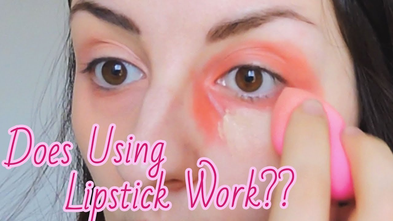 How to hide dark circles with lipstick