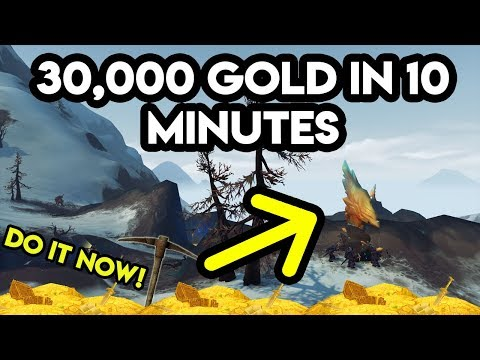 World Of Warcraft Gold Farm 30,000 Gold In 10 Minutes