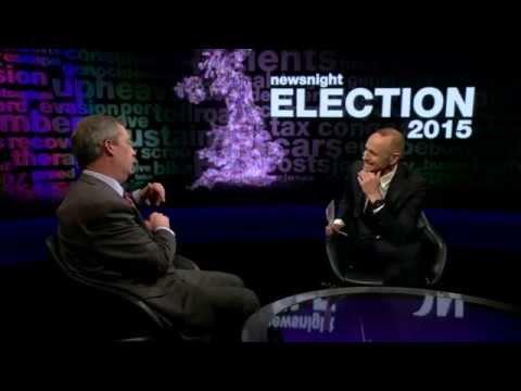 Nigel Farage on Newsnight on GE2015 launch 12th Feb - 2015