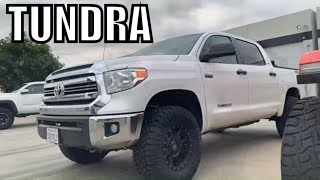 """2017 TUNDRA, Lifted On King Shocks & BMC for 35"""" Tires - TOYOTA"""
