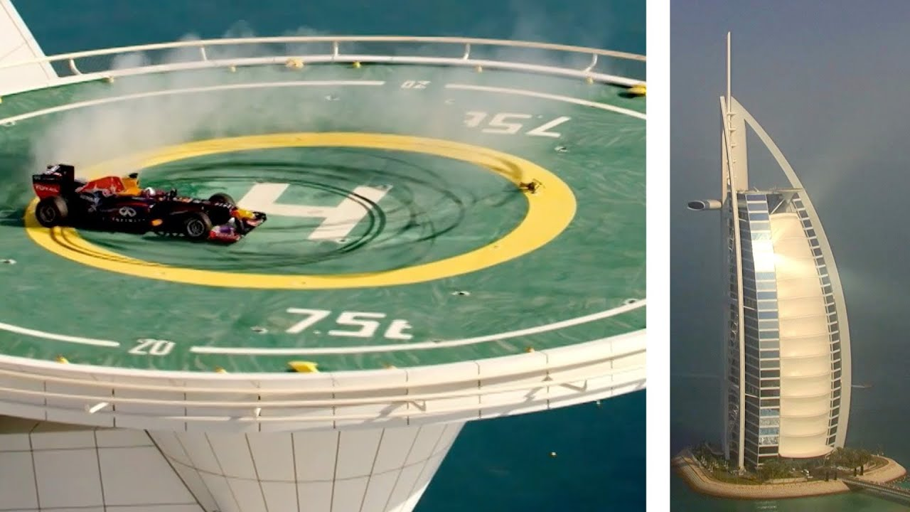 Spectacular Burn On The Burj Al Arab Helipad In Dubai