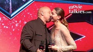 Vin Diesel KISSING Deepika Padukone In Public During xXx: The Return of Xander Cage Movie Promotion