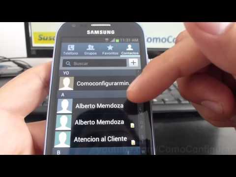 como importar contactos de la sim card al samsung galaxy s3 mini i8190 español Full HD