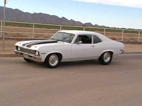 1970 Nova SS Tribute 468ci ROLLING BURNOUT Video