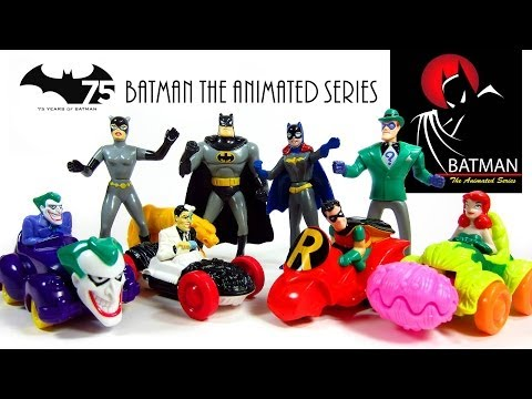 Batman The Animated Series Mcdonald's 1993 Happy Meal Toys  #1-8 video
