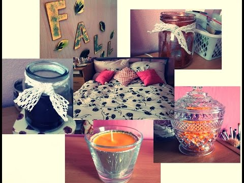 Podzimní dekorace pokoje + DIY. - YouTube