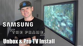 01. Samsung Frame TV Install With No-Gap Wall Mount