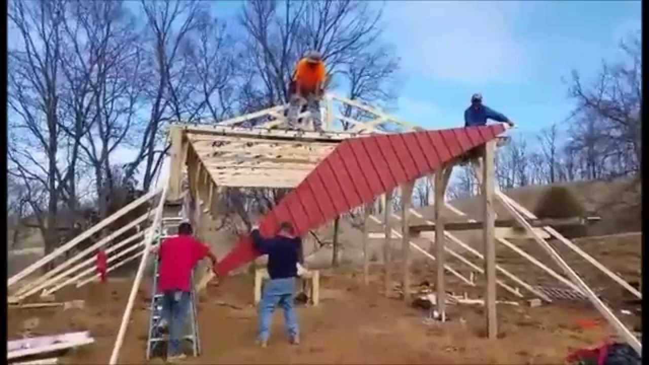 how to build a pole barn plans for free