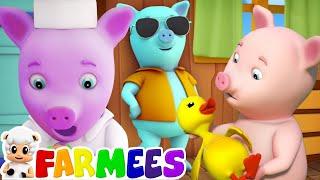Este porquinho | canções para crianças | rimas de berçário | This Little Piggy | Farmees Português