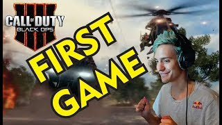 Ninja First Time Playing CALL OF DUTY BLACK OPS 4 BLACKOUT (BATTLE ROYALE)