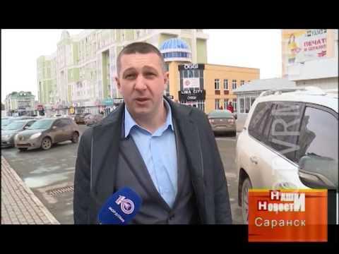В Саранске эвакуатор повредил дорогое авто