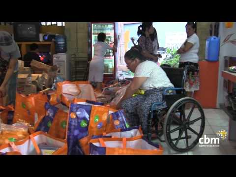 "Thumbnail for video ""Typhoon Haiyan - preparing food distribution"""