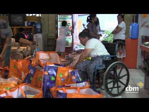 "Thumbnail for video ""Typhoon Haiyan - preparing food distribution"""