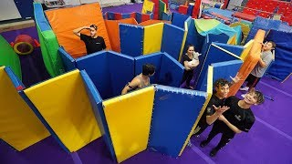 SUPER FUN IMPOSSIBLE GYMNASTICS MAZE!