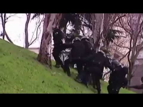 French police vs hill. Epic Fail. 09/01/2015