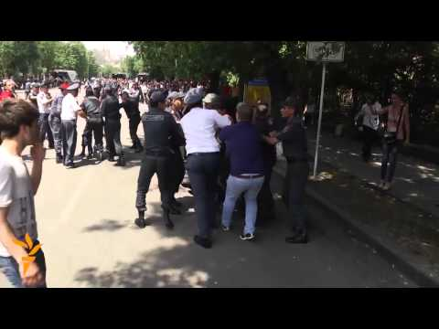 Armenian Police Clear Protest Camp