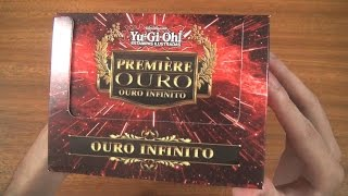 Unboxing Box Première Ouro Infinito - 75 Cartas!