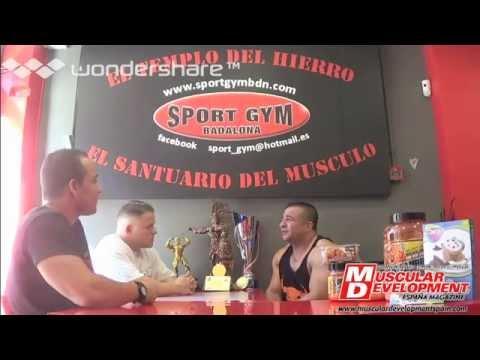 Toni Gutierrez para Muscular Development en Sport Gym BCN