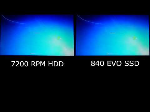 SSD vs HDD - Samsung 840 EVO - Start Up Comparison