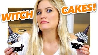 How to Make Witch Cupcakes | Halloween Treats | iJustine