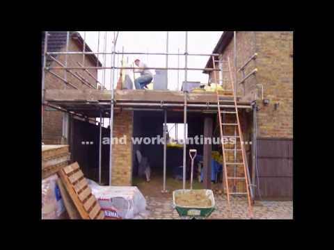 How to build a two storey side extension in less than for How to frame a two story house