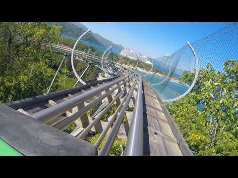 Dragon's Tail AWESOME Roller Coaster POV - Labadee Royal Caribbean Private Resort, Haiti