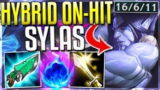 HYBRID ON-HIT SYLAS IS SO BROKEN! BIGGEST HEAL EVER - Sylas Top Gameplay - League of Legends