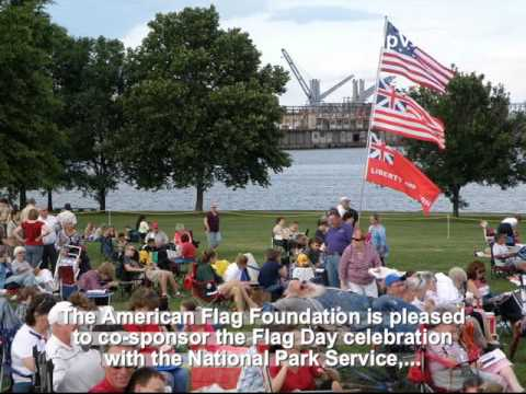 The Flag Day 2011, American Flag Foundation - NPS - USCIS, Fort McHenry, Baltimore, MD, US - Part 1