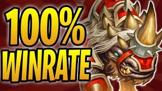 RUSHING THROUGH LADDER w/ 100% WIN RATE! | Rush Warrior | Rastakhan's Rumble | Hearthstone