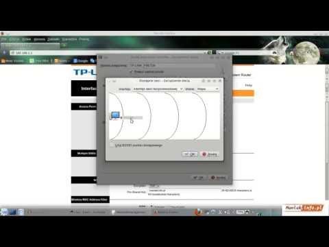 Konfiguracja sieci WIFI Router TP LINK