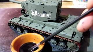 Building Zvezda Model KV-2 Tank In 1/35 Scale