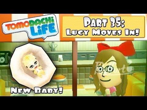 Tomodachi Life 3DS - Part 35: Lucy Moves In + Third Island Baby!