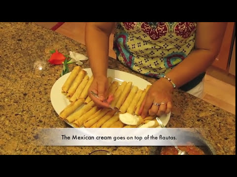 Chicken Flautas (Mexican)