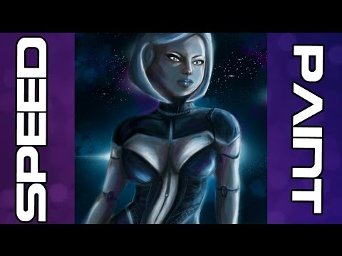 SpeedART: EDI [Mass Effect] Fan Art Painting