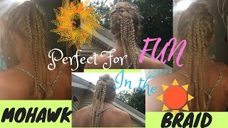 Upside Down Dutch/ Mohawk Braid With A Twist! 👱🏽‍♀️💕🧜🏽‍♀️