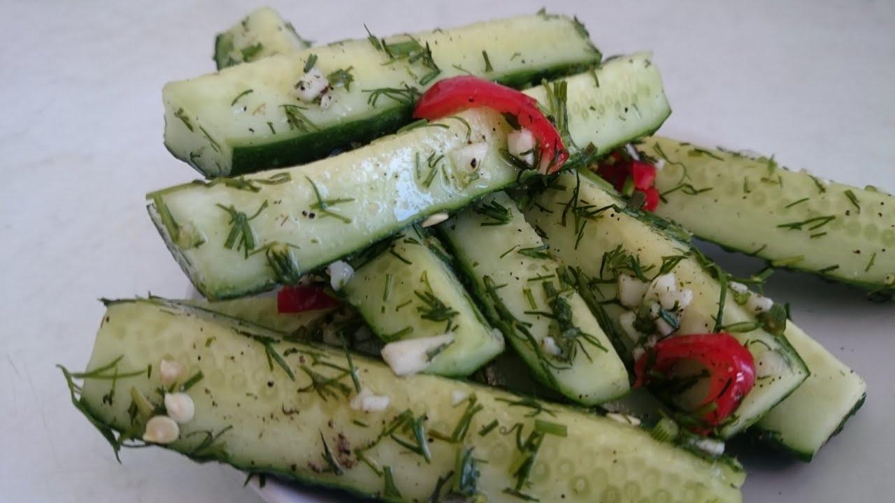 Фото рецепт малосольных огурцов в пакете быстрого приготовления
