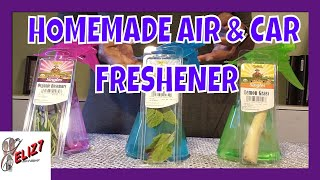 DIy..CAR AND AIR FRESHENER...3 quick and easy ways w/ bonus at the end