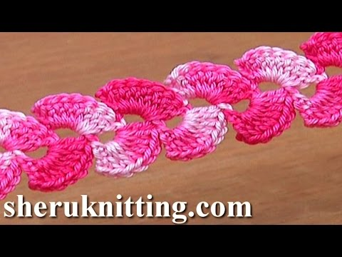 Lacy Crochet Stitches Youtube : Lace Crochet Two-Side Cord Tutorial 8 - YouTube