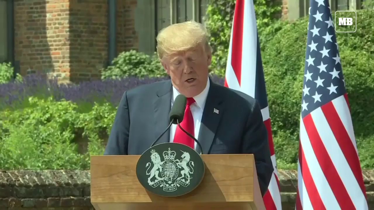 Trump says he's 'OK' with Britain's Brexit strategy