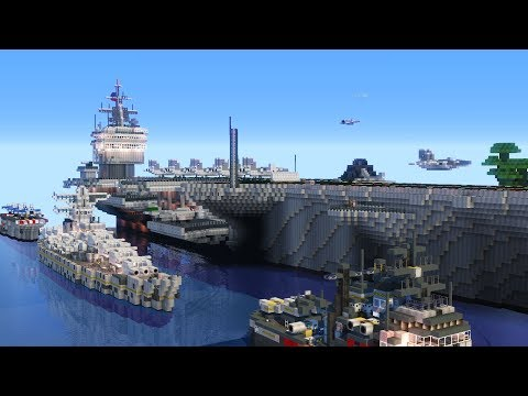 Minecraft Naval Clash: Movecraft Military Server Review