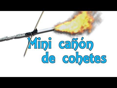 Mini cañón lanza cohetes - Invento casero (Experimentos Caseros)