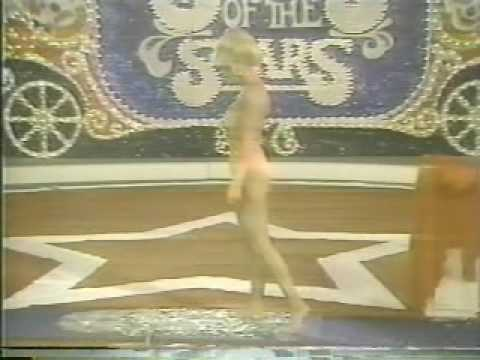 Loni Anderson walking bare feet on broken glass Circus of the Stars Video