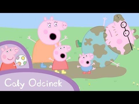 Peppa Pig (Świnka Peppa) - Zabawy w blocie (Cały odcinek po polsku)