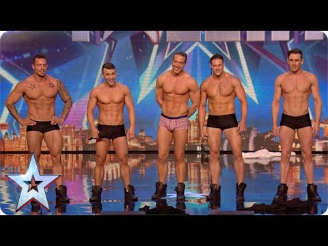 Why hello boys! Feeling a bit hot under the collar are we? | Britains Got More Talent 2015