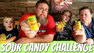 Family Food Challenge || Toxic Waste Sour Candy Challenge