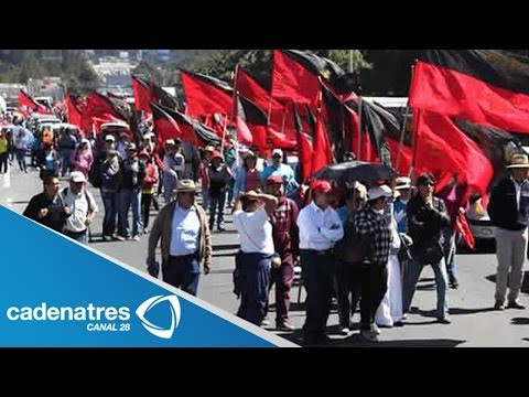 Maestros marchan a Toluca previo a cumbre de Norteamérica