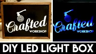 How To Build A DIY Light Box Sign with LASERS!