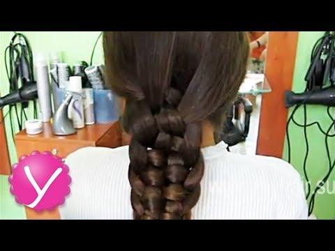 Плетение кос коса из пяти прядей
