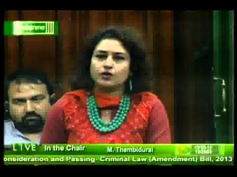 Trinamool MP Shatabdi Roy in LS on Bill for Consideration and Passing Criminal Law (Amendment)
